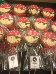 Pirate theme birthday cookies