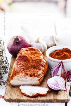 Salami Recipes, My Favorite Food, Favorite Recipes, Romanian Food, Hungarian Recipes, Smoking Meat, Antipasto, Charcuterie, Ham