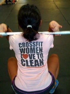 Crossfit Women Love to Clean  I love to clean, and I would love to try cross fit, but I am afraid I am too weak.