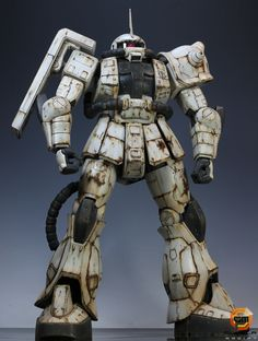 "Modeler: Takachan0205  Base Kit/Grade: Megasize 1/48 Zaku II  Build Title: Zaku II ""White Ogre"""