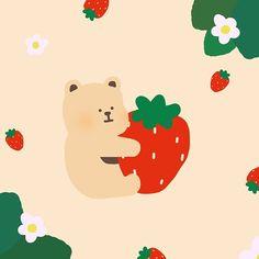Walpapers Cute, Cute Art, Kawaii Wallpaper, Wallpaper Iphone Cute, Posca Art, Simple Illustration, Cute Cartoon Wallpapers, Cute Icons, Cute Stickers