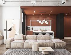 Interior Design,Visual Effects Large Furniture, Furniture Design, Living Room Red, Bedroom Red, Red Rooms, Apartment Design, House Design, Interior Design, Behance