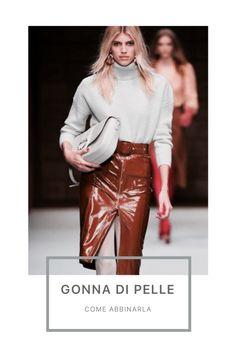 Come abbinare la gonna di pelle, trend autunno inverno 2018-2019 Leather Skirt, Sequin Skirt, Sequins, Skirts, Fashion, Moda, Leather Skirts, Fashion Styles, Skirt
