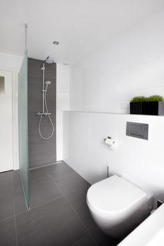 Voorbeeld doucheruimte met toilet en plancet