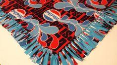 Pepsi Fleece Throw by PolkaDotKreations on Etsy