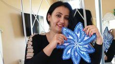 Tasarım Yıldız çarkı lifim (Sibel Öztürk tasarım) #Tasarımlif #sibelleorgu Crochet Flower Tutorial, Crochet Flowers, Embroidery Flowers Pattern, Flower Patterns, Crochet Designs, Crochet Patterns, Tissue Paper Flowers, Unique Crochet, Crochet Mandala