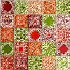 kafle kolorowe arabeski
