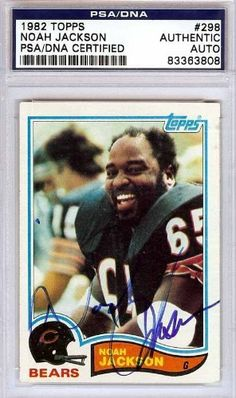 Noah Jackson Autographed/Hand Signed 1982 Topps Card PSA/DNA #83363808 by Hall of Fame Memorabilia. $52.95. This is a 1982 Topps Card that has been hand signed by Noah Jackson. It has been authenticated by PSA/DNA and comes encapsulated in their tamper-proof holder.