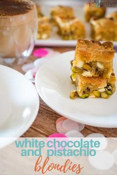 These white chocolate and pistachio blondies are the ultimate indulgent sweet treat.  Perfect for afternoon tea or morning tea. #kidgredients #kidsfood #sweettreat #blondies #whitechocolate #pistachio #homemade #dessert #sweets
