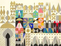 """It's a Small World - Neutral Facade""  - Canvas Wall Art from the Disney® ""It's a Small World"" Collection"" by Oopsy daisy, Fine Art for Kids."