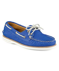 Look what I found on #zulily! Blue Gold Cup Authentic Original Honeycomb Leather Boat Shoe by Sperry Top-Sider #zulilyfinds