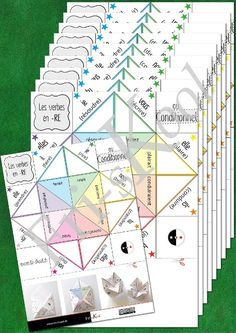 Series of 10 fortune tellers to practice French verbs ending in -RE and -OIR.