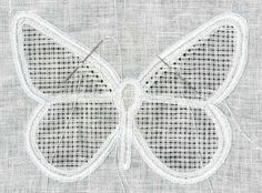 Drawn Thread, Thread Work, Lesage, Butterfly Shape, Blanket Stitch, Satin Stitch, Cotton Thread, Step By Step Instructions, Creative Design