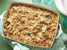 Recipe of the Day: Not-Quite-Retro Tuna Casserole	 Elevate your classic tuna casserole by breaking out a healthier version your fam will scoop seconds of. Strewn with broccoli, mushrooms and peas, this favorite ditches condensed soup for a homemade creamy mixture and gets a topping of whole-wheat breadcrumbs.