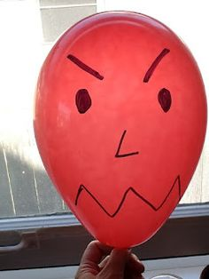 Letting it out S-L-O-W-L-Y  Don't let angry balloon pop!    An awesome visual to help kids learn to let their anger (or can work for anxiety, stress, whatever they are struggling with) out slowly.