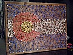 Everything I want, and nothing I don't: Colorado Flag String art (Janky home-made gifts series part 3)