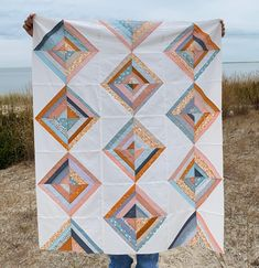 """The Bodhi Quilt is here!! This modern, scrappy quilt pattern is great for those just beginning their quilting journey as well as the very experienced quilter. Just what you need for putting all those much loved scraps, or your favorite fat quarter bundle or two to work, this versatile quilt is beautiful in either prints or solids and allows the quilter the freedom to modify as they like. Think of it as """"structured improv"""" with lots of guidance along the way, to help you make this quilt shine wit Vintage Quilts Patterns, Quilt Square Patterns, Patchwork Quilt Patterns, Beginner Quilt Patterns, Modern Quilt Patterns, Square Quilt, Modern Baby Quilts, Stripe Quilt Pattern, Traditional Quilt Patterns"""
