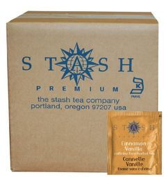 Stash Tea Cinnamon Vanilla Herbal Tea, 100 Count Box of Tea Bags in Foil -- More info could be found at the image url.