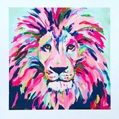 54 Easy Acrylic Painting Ideas for Beginners to try Painting Inspiration, Art Inspo, Animal Paintings, Painting & Drawing, Lion Painting, Diy Art, Cool Art, Art Projects, Art Photography