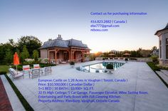 Luxury Home at Kleinburg Vaughan - Real Estate Portal Toronto Condo, Wine Tasting Room, Real Estates, Condos, Ontario, Acre, Wealth, Portal, Luxury Homes