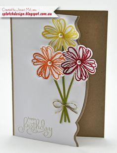 Splotch Design - Jacquii McLeay - Stampin Up - Flower Shop Card