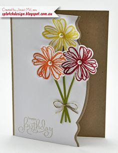 Splotch Design - Jacquii McLeay - Stampin Up - Flower Shop Card