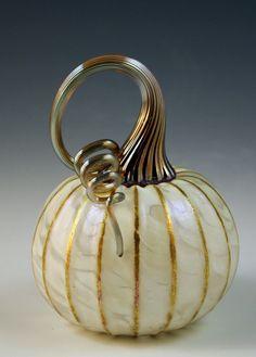 Jack Pine Studio Hand Blown Glass Pumpkins by jackpinestudios, $32.00