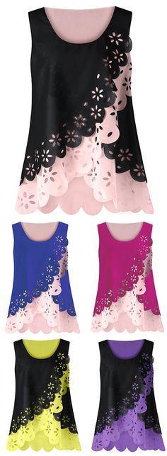 fashion trends 2017 Hollow Out Scalloped Blouse Blouse Neck Designs 13d65cc283
