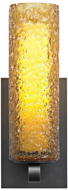 "LBL Mini-Rock Candy Amber Glass 12"" Wall Sconce | LampsPlus.com"