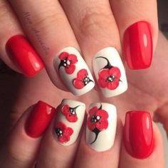 Bright summer nails photo