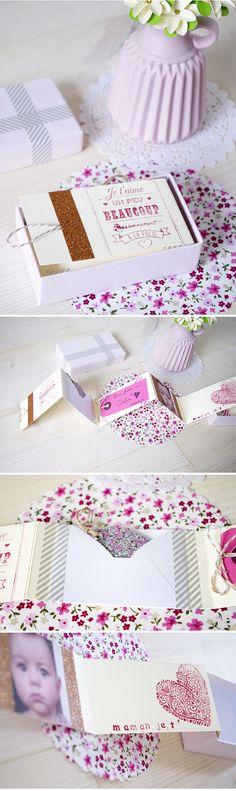 {DIY} Une boite remplie d'amour pour la fête des mères & DIY du bouquet de fleur en papier