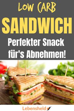 Low carb sandwich - very simple, low in calories and super tasty .-Low carb Sandwich – Sehr einfach, kalorienarm und super lecker Recipe for a super tasty low carb sandwich. Simple, quick and super healthy! Grilling Recipes, Veggie Recipes, Diet Recipes, Healthy Recipes, Quick Recipes, Sandwich Recipes, Cookbook Recipes, Smoothie Recipes, Clean Eating Diet