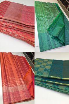 Buy Pure kanchipuram handwoven self brocade sarees 8897195985 | siri designers