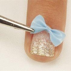 Nail Art Moldear un lazo para tus uñas