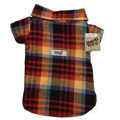 Camisa para Cachorro Flanela Xadrez Dudog Vest - MeuAmigoPet.com.br #petshop #cachorro #cão #meuamigopet