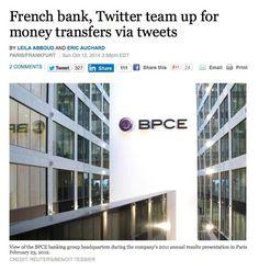 """路透社報道,法國第二大銀行集團Groupe BPCE 將會係本月推出「Tweet 錢」服務。該集團旗下S Money服務的客戶,將可以透過最多140字(母)的Tweet間過數至其他客戶的戶口,為全球首間提供以社交網絡轉帳的零售銀行。但Financial Times的報道指,目前有關服務的細節及詳請,其實未有公布,到底用twitter轉帳時,有關的指令(即係個Tweet)係公開或是Private的,仍是未知之數。  如果大家對這個服務的詳請有興趣,不妨到Groupe BPCE 的S Money 官方網站留下Email Address,以接收相關的最新資訊。(雖然我唔知關香港人咩事,but who knows~)      當然,各西媒都會將這個「破天荒」的Twitter功能同其他Twitter 或Facebook等社交網絡提供的相似功能作比較。例如上月Twitter 亦公布左會開始係美國試驗 """"Buy Now"""" 制(下圖),等Twitter用戶可以直透過指定商戶的Tweet,購買tweet 內提及的產品。     而日本的Rakuten Bank (樂天銀行)8…"""