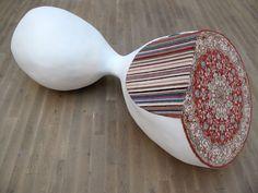 Textile art by Faig Ahmed History Of Textile, Arabic Decor, Textiles Techniques, Contemporary Embroidery, Contemporary Sculpture, Book Quilt, Textile Artists, Sculpture Art, Fiber Art
