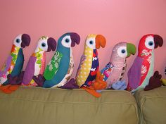 Hideous Reclaimed Fabric = Hideously Fabulous Birds - TOYS, DOLLS AND PLAYTHINGS