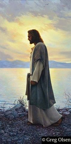 Walk with Me Poster by Greg Olsen Greg Olsen, Inner Peace Quotes, Novena Prayers, Mormon Temples, Things About Boyfriends, Thing 1, Hail Mary, Gratitude Quotes, Romantic Love Quotes