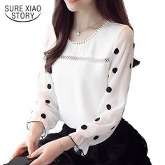 df2ad49d 34.99 | Spring Shirt Women Fashion Tops Female Long Sleeves Blouse Office  Lady Slim ❤