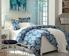 Girls blue bedroom ideas blue rooms for girls wall decor for teenage girl room pink bedroom . Blue Bedroom Decor, Girls Bedroom Furniture, Small Room Bedroom, Bedroom Colors, Small Rooms, Dream Bedroom, Dream Rooms, White Bedroom, Bedroom Girls