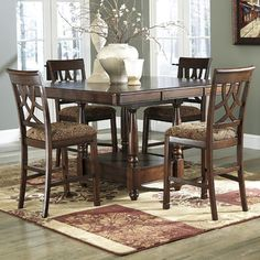 Signature Design by Ashley Leahlyn 5 Piece Dining Set