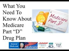 What You Need To Know About Medicare Plan D Drugs Millions of seniors are enrolled in the prescription drug plan Medicare Part D. However, the task of choosing a plan can seem daunting and can be confusing for many elderly people. In this video we will explain your choices.