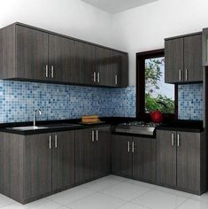 Show your avant-garde style through your minimalist kitchen. Its functional minimalist kitchen set come in varied materials and designs. Kitchen Cupboard Designs, Kitchen Room Design, Modern Kitchen Design, Home Decor Kitchen, Interior Design Kitchen, Home Kitchens, Kitchen Ideas, Interior Ideas, Small Kitchens