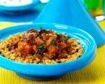Marokkaanse stoofpot van pompoen en kikkererwten met couscous