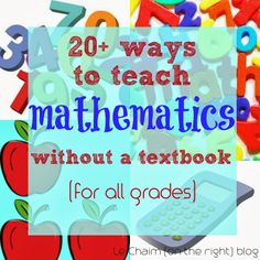 20+ Ways To Teach Math Without a Textbook // Le Chaim (on the right)