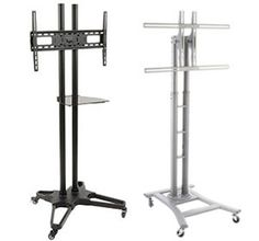 Amazon Com Steel Floor Tv Stand With Wheels For A 27 To