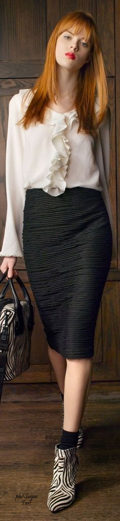 Nanette Lepore Pre-Fall 2014 women fashion outfit clothing style apparel @roressclothes closet ideas