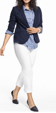 LANE BRYANT THE LENA MODERATELY CURVY FIT CROP PANTS - WHITE - SIZE 24 #LaneBryant #CaprisCropped