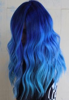 Cool And Trendy Hair Colors Ideas For You - All For Hair Color Balayage Cute Hair Colors, Pretty Hair Color, Beautiful Hair Color, Hair Dye Colors, Trendy Hair Colors, Blue Ombre Hair, Ombre Hair Color, Hair Color Balayage, Dyed Hair Blue